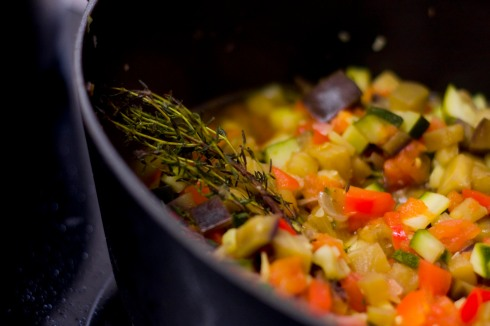Provençal vegetables in cocotte