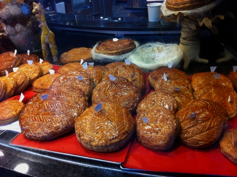 Galette des Rois in Paris bakery windows