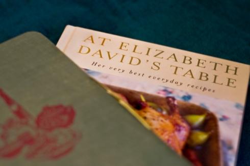 At elizabeth david's table- book