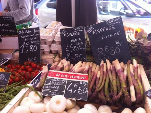 Farmers Market Violet Asparagus