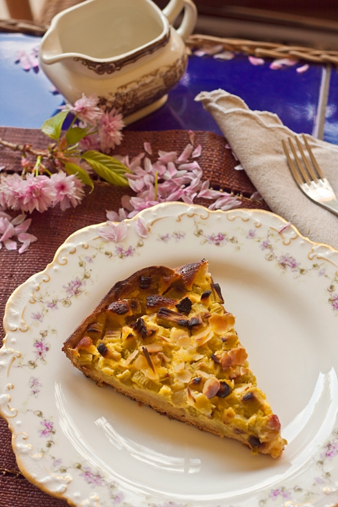 rhubarb tart tarte a la rhubarb
