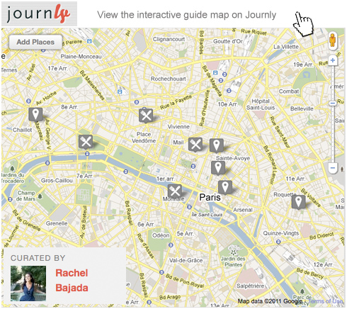Map of paris restaurants open in august on journly.com