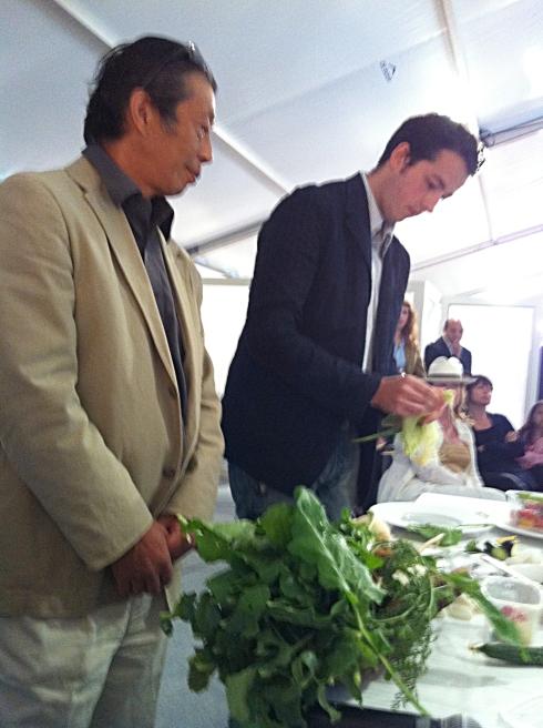 Asafumi Yamashita and Sylvian Sendra Cutting Vegetabes