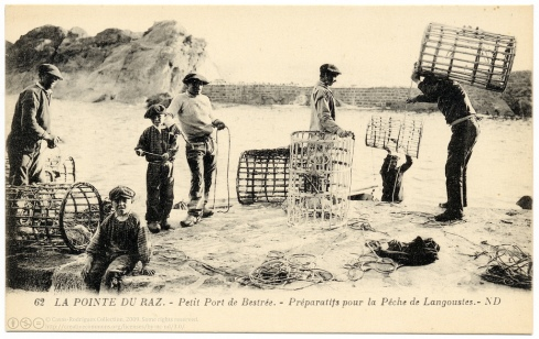 Lobster fishing Brittany Archival photo