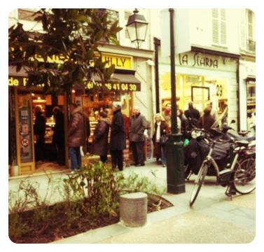 Paris bread queue