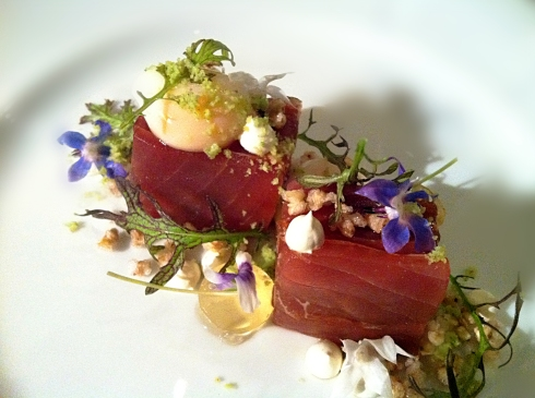 tuna and jamon iberica sashimi sepia sydney