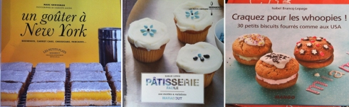 American patisserie cookbooks at La Librairie Gourmande