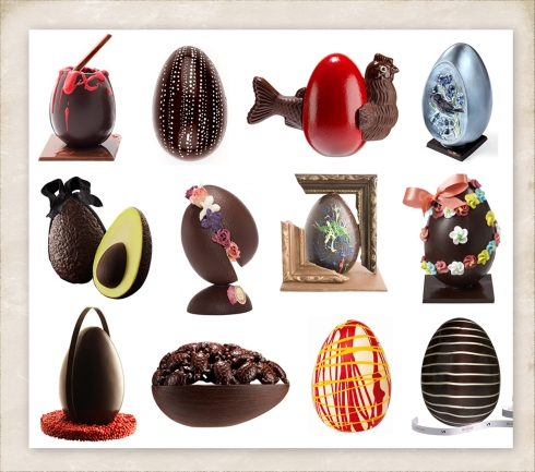 2012 paris designer chocolate easter eggs