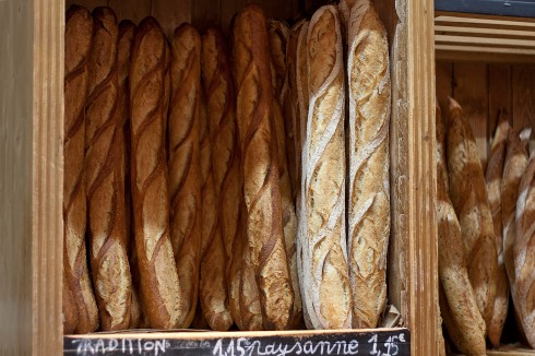 Paris' best baguettes in a boulangerie