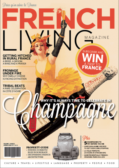 French Living Magazine Spring Edition Cover