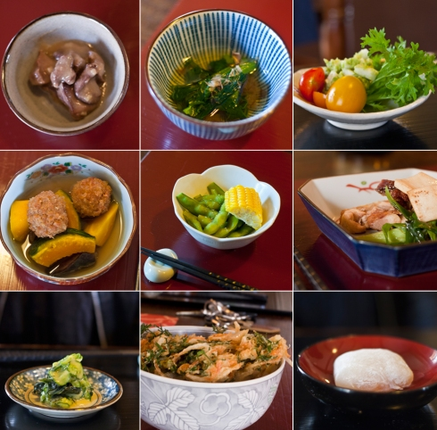 Degustation menu at Yamashita