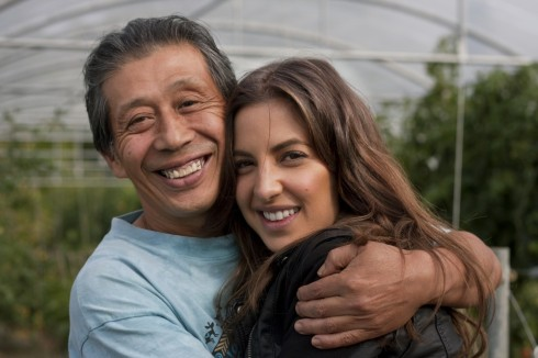 Rachel and Asafumi Yamashita at his farm outside of Paris