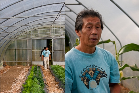 Asafumi Yamashita in his greenhouse